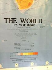 "New ListingArmy Map Service of World Less Polar Regions Engineers 9-Sheet 55x40"" each Rare!"