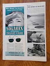 1945 Solarex Sun Glasses Ad 1945 Gaby Suntan Lotion Ad Gaby Tan