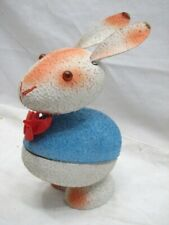 Vintage Easter Bunny Rabbit Candy Container Nodder West Germany Bobble Head Peep
