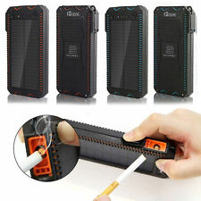 300000mAh Solar Power 2LED Light+2USB+Cigarette lighter Battery Charger For Cell