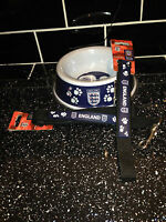 ENGLAND DOG BOWL LEAD AND COLLAR SETS BARGAIN BUY OFFICIAL ENGLAND