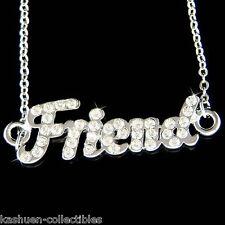 w Swarovski Crystal Love Best Friends Friend Letters Friendship Pendant Necklace