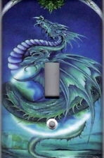 DRAGON IN BLUE HOME WALL DECOR SINGLE LIGHT SWITCH PLATE