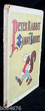 RARE 1918 1st Ed. Peter Rabbit and Sammy Squirrel Saalfield w DUST JACKET - LOOK