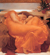 Art oil painting beautiful young woman in yellow dress sleeping free shipping