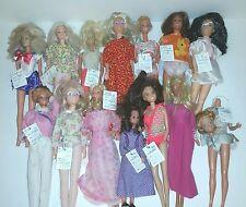 Vintage 60'S, 70'S & 80'S Barbie Hasbro Mattel Kenner Dolls Lot Of 14 As Is