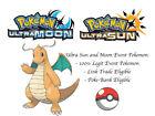 Pokemon Ultra Sun and Moon Lances Dragonite Japan Event Pokemon