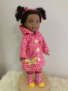 Polkadot hooded coat~made for Kendall or any WellieWisher/Glitter Girls