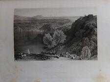 ITALIA. LAZIO, LAGO DI NEMI.  GRABADO ORIGINAL DE HAKEWILL, 1820