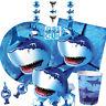 SHARK SPLASH Birthday Party Range - Sea Ocean Tableware Balloons & Decorations
