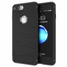 For iPhone 8 Carbon Fibre Gel Case Cover Shockproof & Stylus Pen