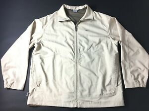 Nike Mens Beige Long Sleeve Zip Up Windbreaker Jacket Size Large