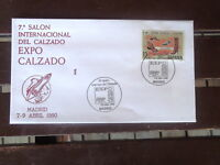 SPANISH ESPANA DEL CALZADO EXPO  STAMP COVER 1990 MADRID