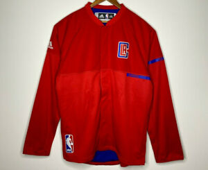 LA CLIPPERS Team Player Issued Shooting Jacket Red NBA Los Angeles XXL 2XL