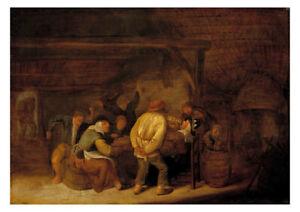 Bartholomeus Molenaer - Drinking Peasants
