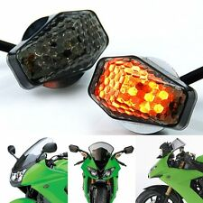 15 Amber LED Flush Mount Smoke Turn Signal Indicator Blinker Light Universal