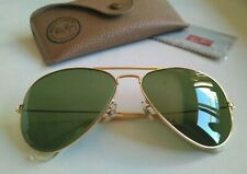 Ray Ban Vintage B&L 70's AVIATOR Classic Gold  RB3  Green  58-14. USA. NEW