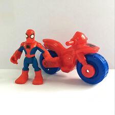 Playskool Heroes Marvel Super Hero Adventures Spider-man & Motorcycle Figure Toy