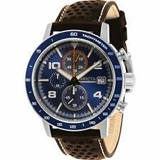 Invicta Men's 30933 Aviator Quartz 3 Hand Blue Dial Watch