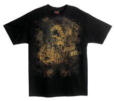 Miami Ink Men's T-Shirt Tattoo Skull Black