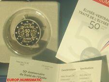 "FRANCE 2013 2 EUROS COMMEMORATIVE BE/PP/PROOF "" TRAITE DE L'ELYSEE "" SUPERBE"