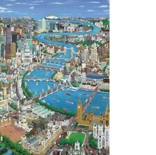 Wentworth Mini London The Thames 40 Piece England Wooden Jigsaw Puzzle