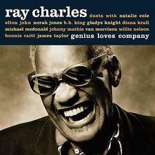 """RAY CHARLES """"GENIUS LOVES COMPANY"""" AUDIO CD FT. ELTON JOHN BB KING 2004 HEAR"""