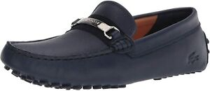 Mens Lacoste Ansted 0320 1 CMA Driving Loafers - Navy Leather [7-40CMA00466T3]