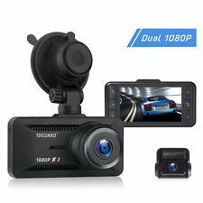 TOGUARD Dash Cam Front and Rear Dual Lens Car Camera Both 1080P Video Recorder