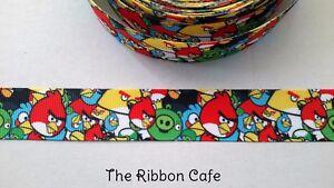 Angry Birds 22mm printed grosgrain ribbon 2 METRES