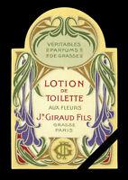 Antique 1890/'s Label Fabric Dye Vintage Original Advertising Cat Lithograph