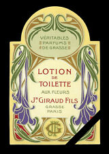Vintage French Perfume Label Antique Lotion De Toilette Giraud Fils Grasse 1920