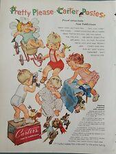 1955 Carter's girls boys posies print underwear pajamas vintage ad