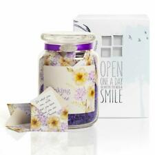 KindNotes Glass Keepsake Gift Jar with Inspirational Messages-Violet Thinking