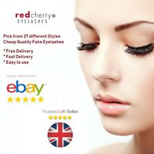 1-10x Pairs Red Cherry Eyelashes 100% Human Hair High Quality False Lashes Wispy