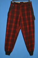 vintage 80s WOOLRICH BLACK RED BUFFALO PLAID WOOL HUNTING MEN'S PANTS 32 X 31
