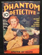 Phantom Detective Vol. XVI #1 Pulp - Specter of Death (FINE) August, 1936