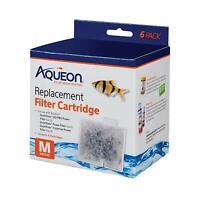 6 Pack Aqueon Replacement Filter Cartridges Size M Fits Aqueon Quiet Flow Filter