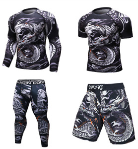 Brand New UFC BJJ MMA Work Out Compression Rashguard T shirt Men VS PK Exercise