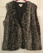 NEW Ladies CATO Vest XL Sleeveless Faux Fur Gray