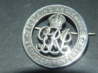 WW1 AUSTRALIAN AIF SILVER BADGE FOR KING AND EMPIRE SERVICES RENDERED C1918's