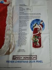 Daisy Kingdom Colorful Sewing Quilting Father Christmas Holiday Door Panel