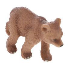 Realistic Little Brown Bear Wild/Zoo Animal Model Figure Figurine Kids Toy