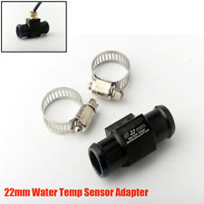 22mm Black CNC Water Temperature Sensor Adapter Tee Connector for Motorcycle 1PC