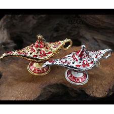 Metal Carved Legend Lamp Hollow Aladdin Magic Genie Light Wish Pot Home Decor