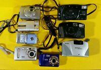 Digital & 35mm Camera Lot Of 8  Canon Fuji Vivitar Kodak Pentax Yashica UNTESTED