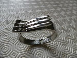 Bracelet rigide en métal argenté (NEUF)