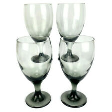 Reto LIBBEY Smoke Brown Stem Water Goblets Wine Ice Tea Glasses Glassware Set 4