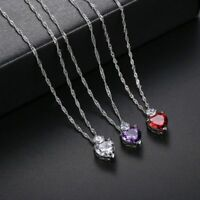 Cute Women's Crystal Heart Shaped Pendant/Necklace!