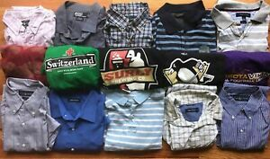 Five(5) Pounds Clothing Shirts Tops T Button Lot Variety Dress Polo Casual Men